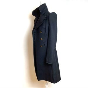 Zara long black coat // women
